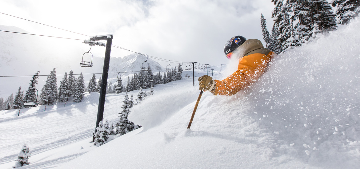 powder skiing at Arapahoe Basin