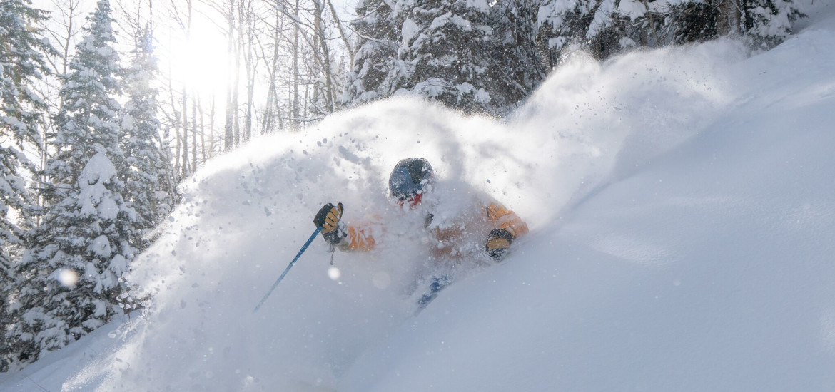 Powder skiing at Purgatory Resort