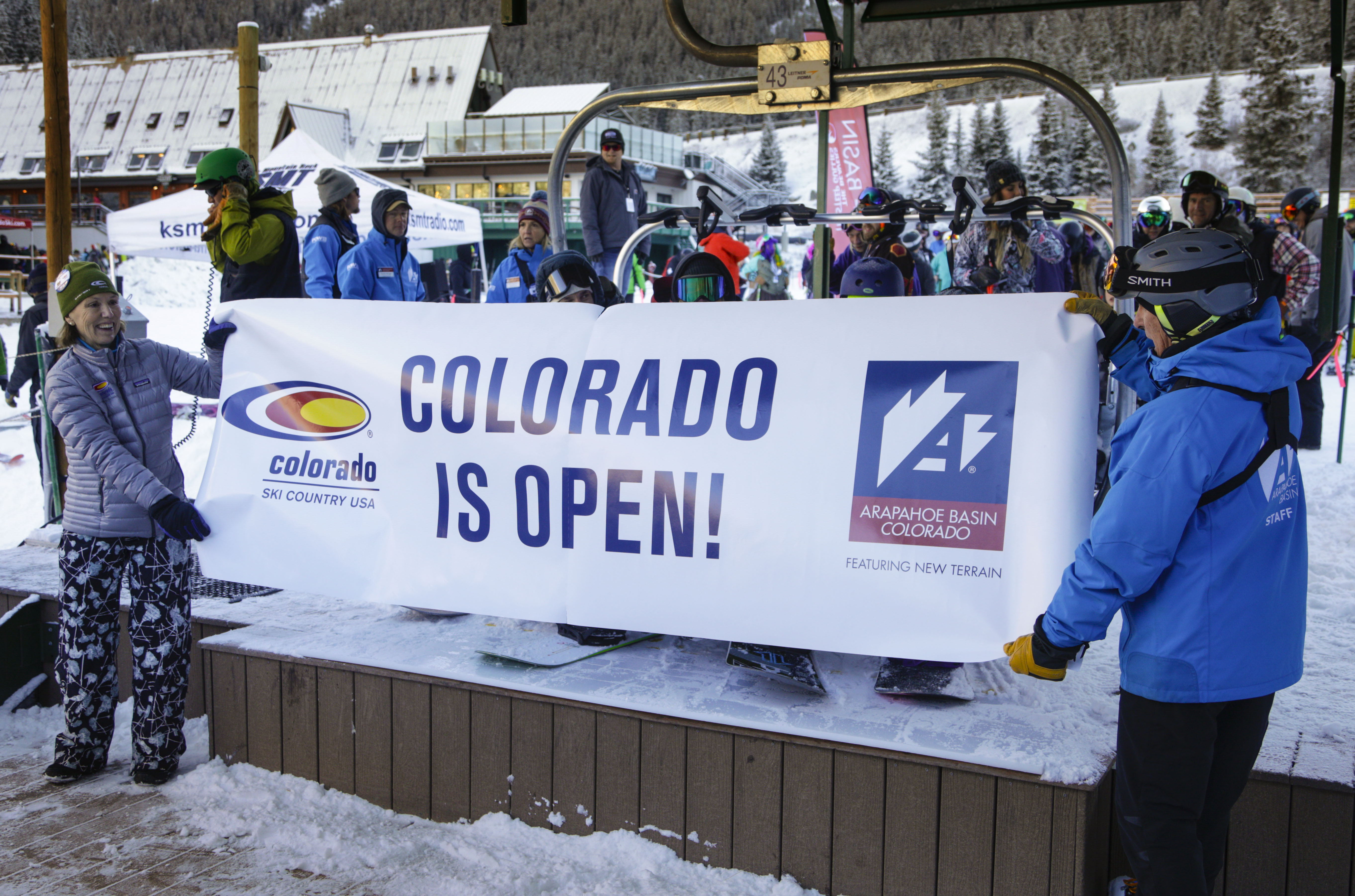 A-Basin Opening Day Banner Colorado Ski Country Jack Dempsey