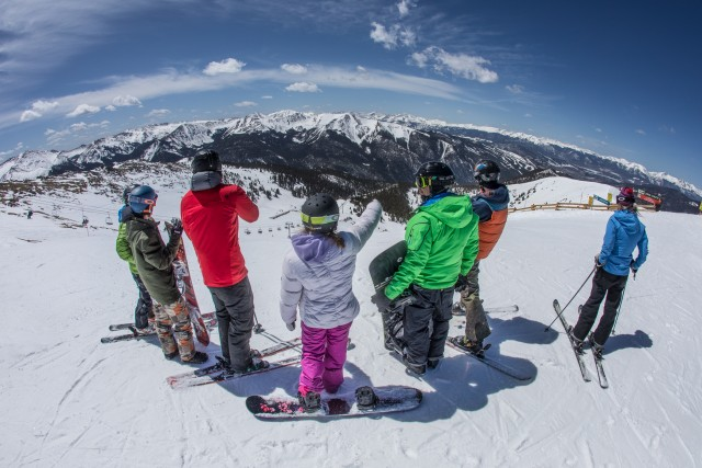 College students at Arapahoe Basin