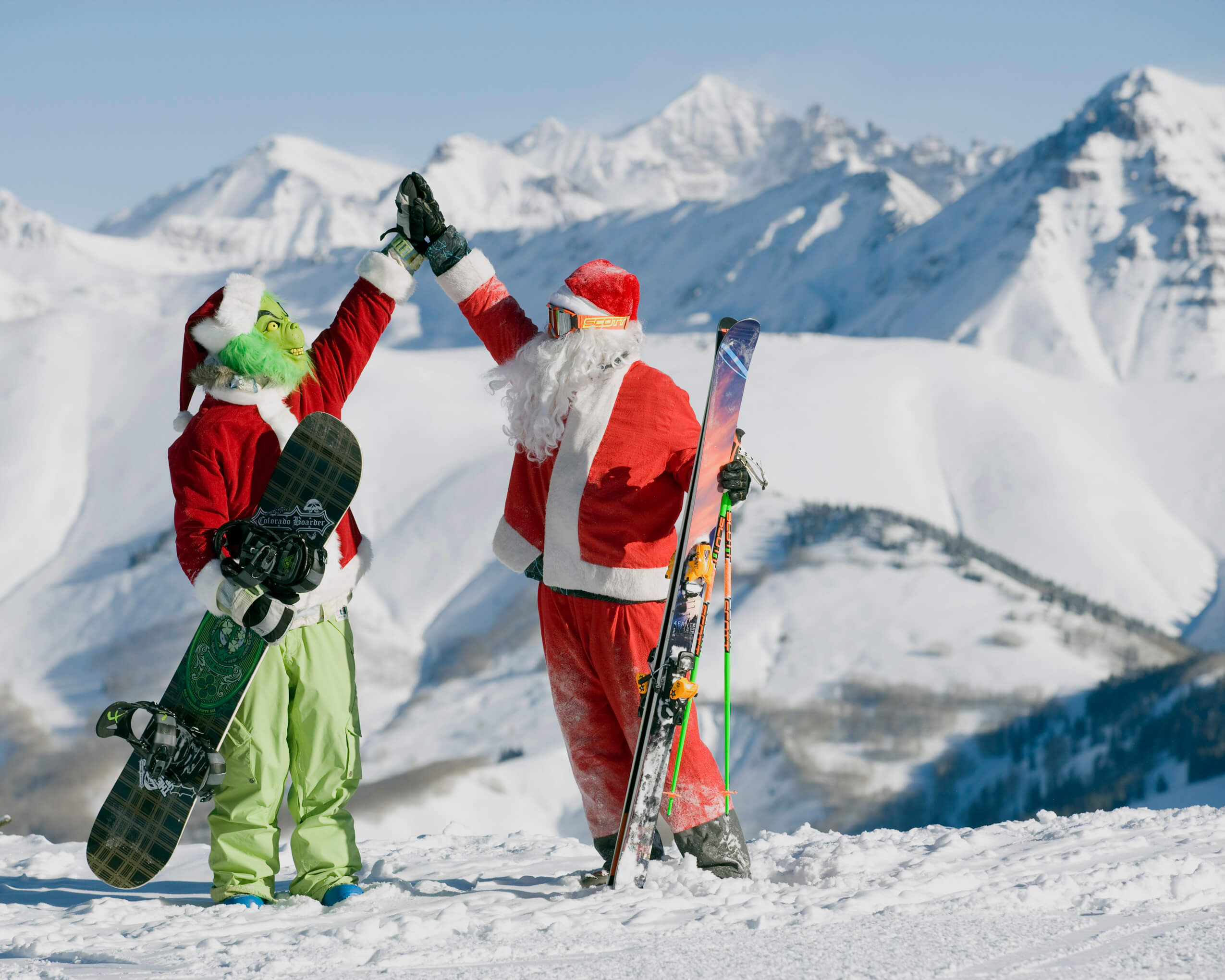 Santa and Grinch at Crested Butte