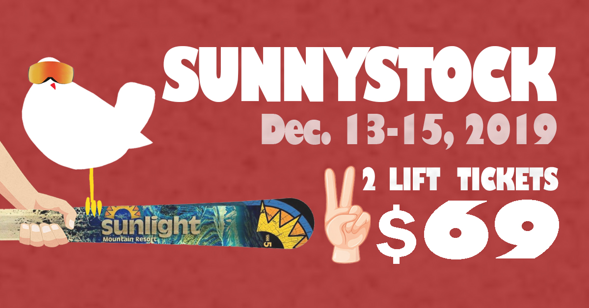 Sunnystock Dec. 13-15, 2019 - Come Back to the Garden