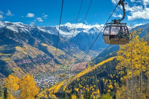 Photo of Telluride Gondola over the mountains.