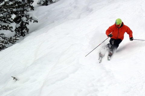 Powder skiing at Monarch.