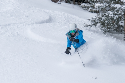 Powder skier at Telluride.