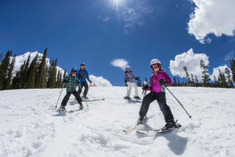 Spring skiing at Arapahoe Basin.