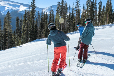 Three skiers at Winter Park.