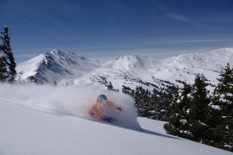 Powder skiing at Loveland.