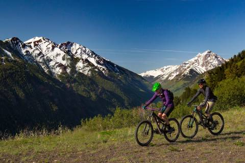 Mountain biking at Aspen.