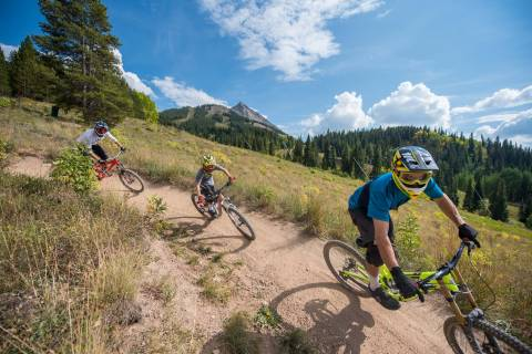 Mountain biking at Crested Butte.