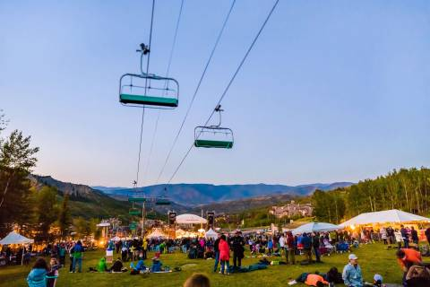A summer evening at Aspen Snowmass.