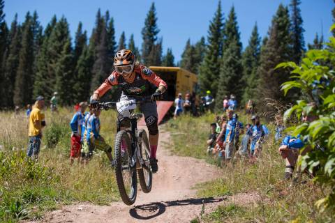 Mountain bike race at Purgatory Resort.