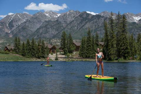 Stand-up paddleboarding at Purgatory Resort. Photo by Scott D.W. Smith.