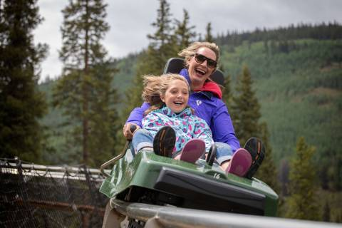 Mountain coaster at Copper Mountain.