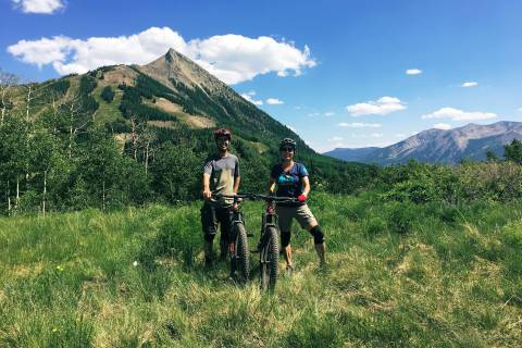 Mountain biking in Crested Butte.