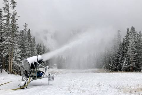 Snowmaking at Loveland Ski Area.