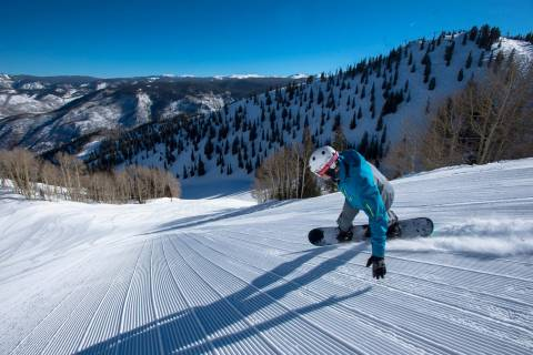 Groomer at Aspen Mountain.