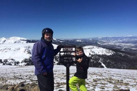 Erik and Parke at Winter Park.