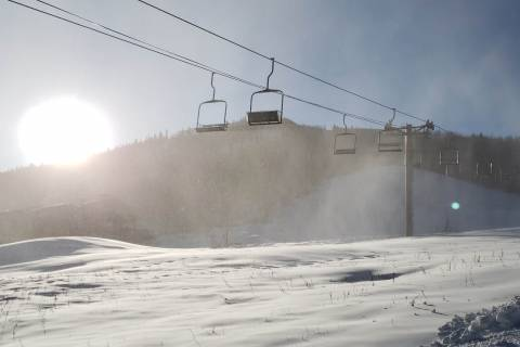 Snowmaking at Sunlight.
