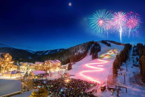 Torchlight parade at Winter Park Resort.