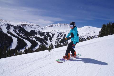 A young skier at Loveland.