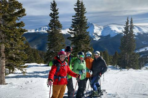 Helen Olsson and her family at Winter Park Resort.