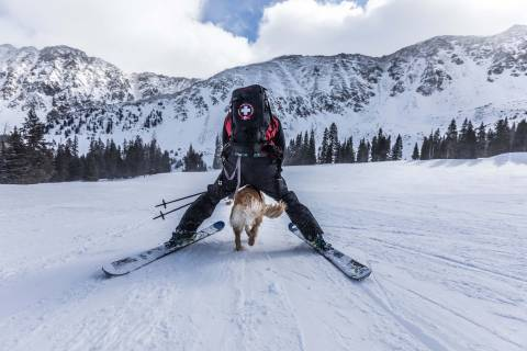 Ski patrol at Arapahoe Basin.