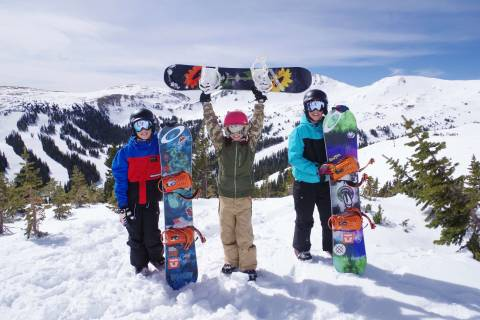 Young skiers at Loveland.