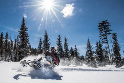Snowmobiling at Sunlight.