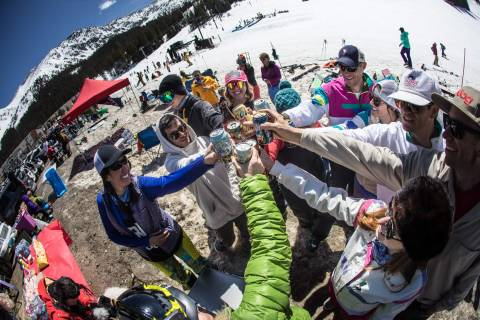 Beach day at Arapahoe Basin.