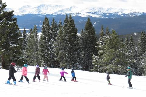 Kids Getting A Lesson At Copper Mountain