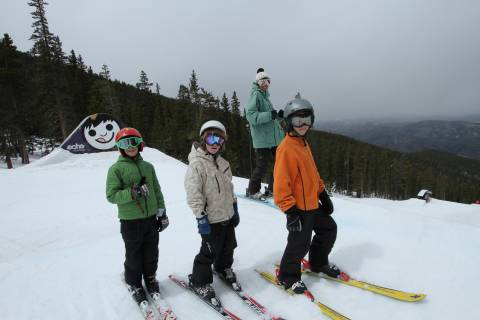 Family Skiing at Echo Mountain