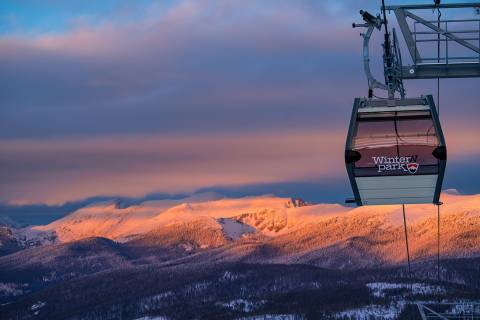 Winter Park Gondola sunset