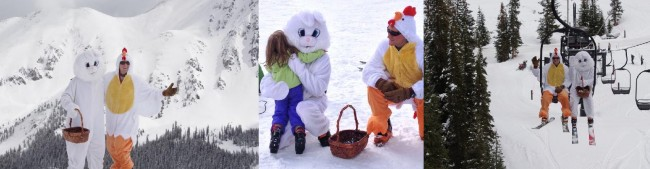 A-Basin Easter Bunny Collage