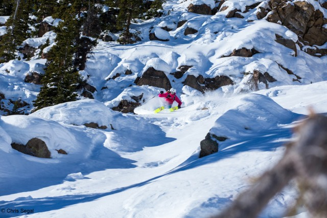 Wendy Fisher in Crested Butte. Photo by Chris Segal courtesy of Warren Miller Entertainment.
