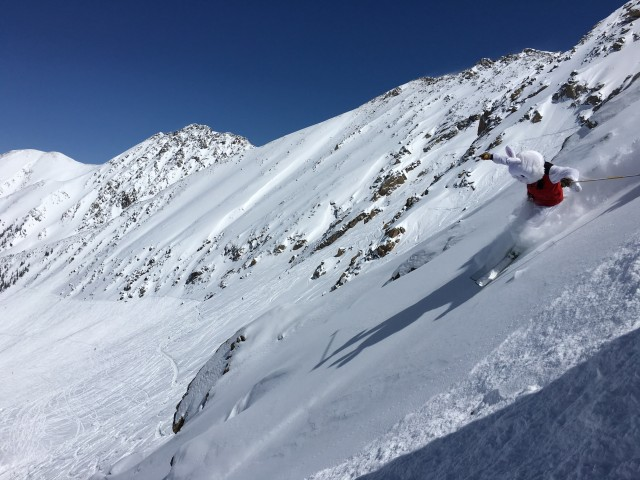 The East Wall can stay open until Easter! Photo courtesy of Arapahoe Basin.