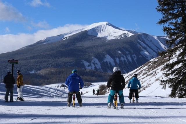 Is this the year you try snow biking? Photo by Chris Segal courtesy of Crested Butte.