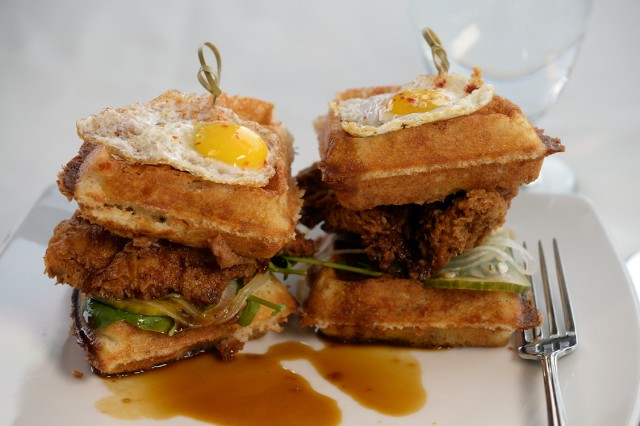 The Chicken Wafflewich. Photo courtesy of Steamboat Resort.