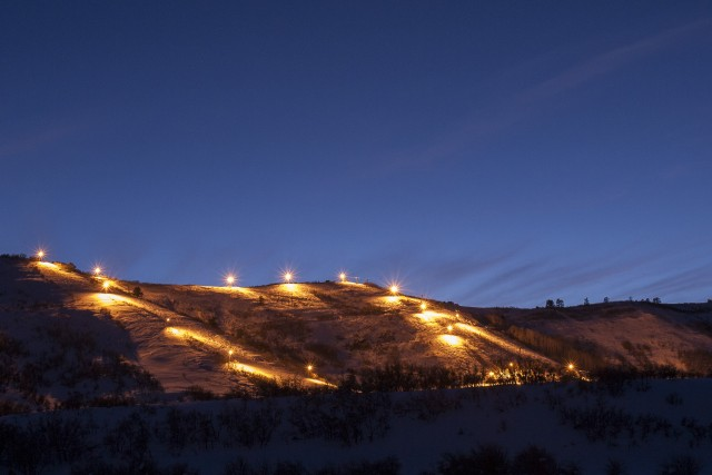 Night skiing at Hesperus. Photo by Scott DW Smith.