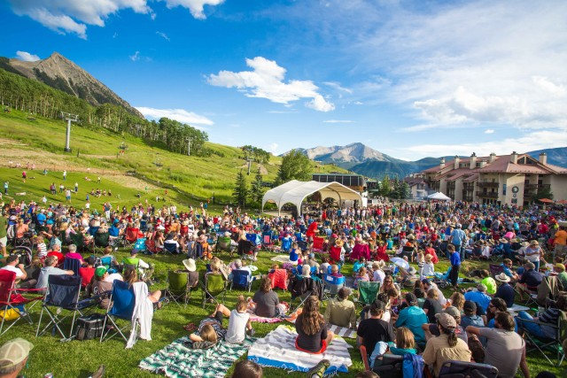 A summer concert at the base of Crested Butte. Photo by Chris Segal.