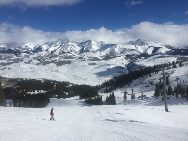 The view from the top of the Paradise Lift at Crested Butte. Photo by Chris Linsmayer.