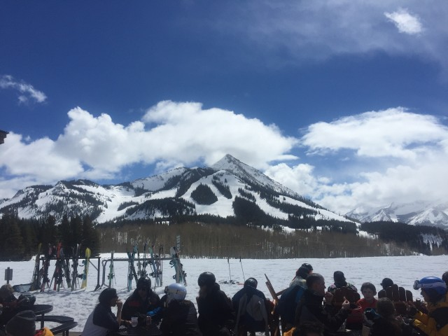 The Umbrella Bar  is home to some spectacular views of the rest of the mountain.