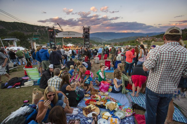 Evening Picnic at Snowmass. Photo courtesy of Jeremy Swanson.