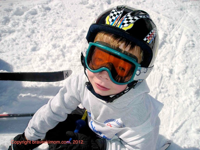 young skier in snow