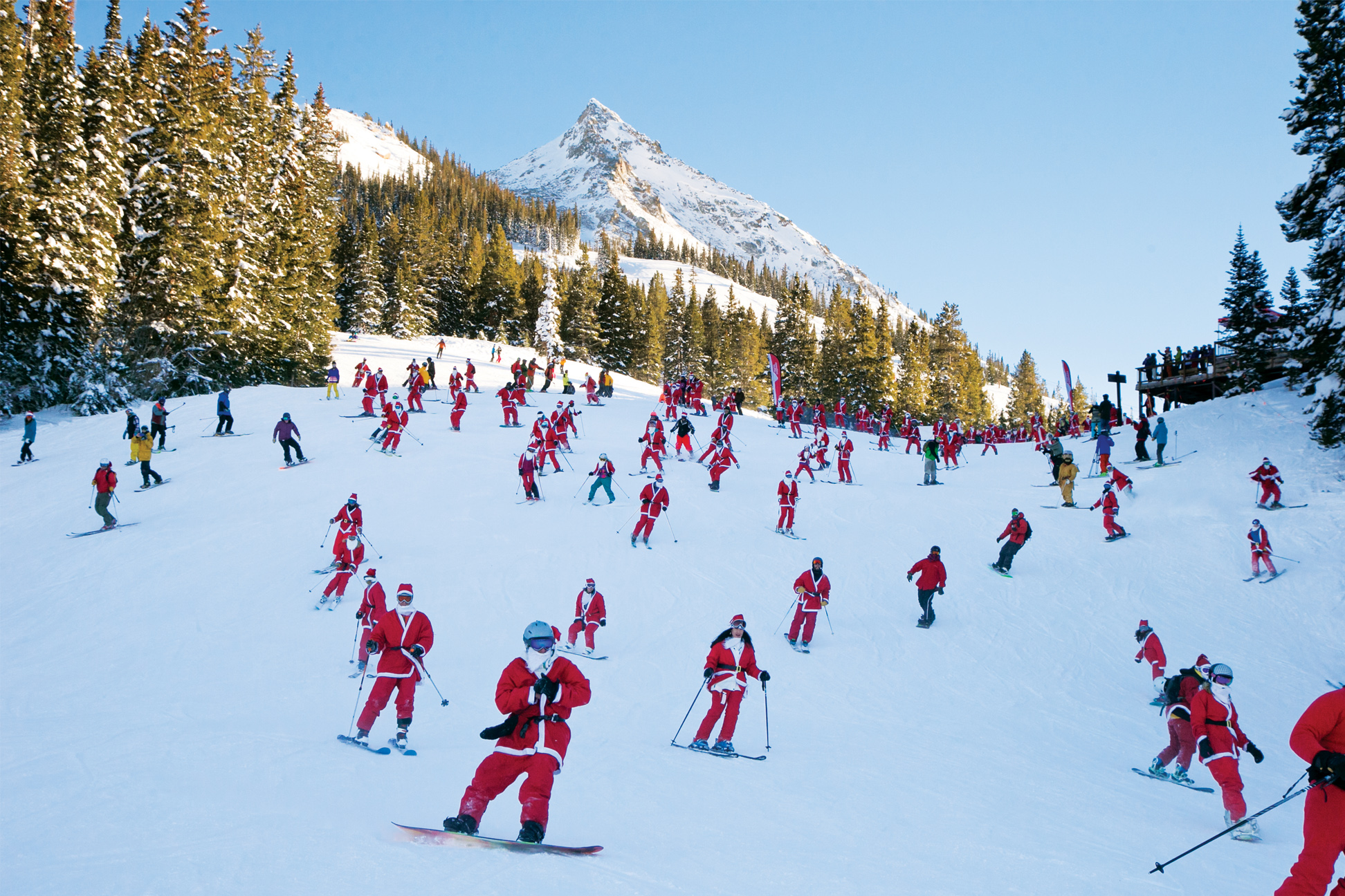 Christmas In Colorado Mountains.Guests Sure To Enjoy A Jubilant Holiday Season In Colorado